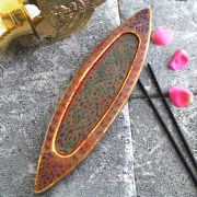 Indian marble incense sticks stand Patti red