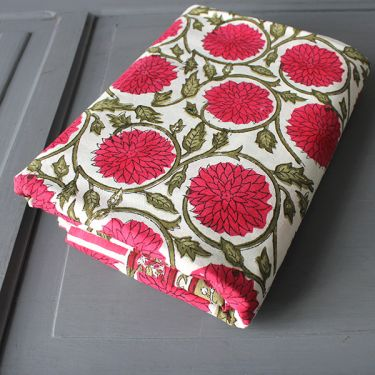 Indian printed tablecloth Red