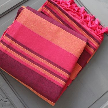Indian sofa or bed cover pink and purple
