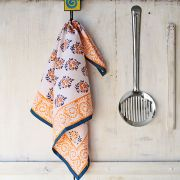 Serviette ou torchon indien imprimé orange