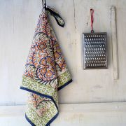 Indian handicraft kitchen towel or napkin greeen and blue