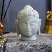 Indian marble Buddha head statue