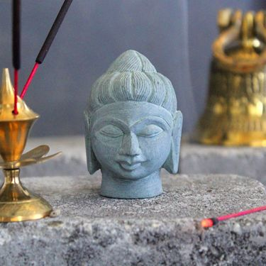 Indian stone Buddha head statue