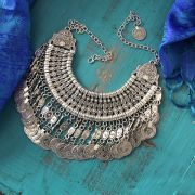 Indian metal antique necklace