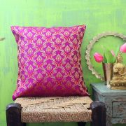 Indian cushion cover Benarasi magenta L40