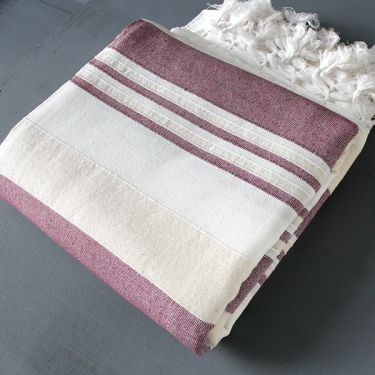 Indian sofa or bed cover white and purple