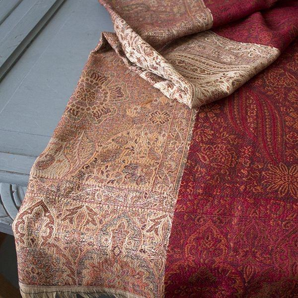 Belle charpe indienne brod e artisanat indien par pankaj for Vetements artisanat indien
