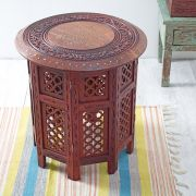 Indian wooden small handicraft table
