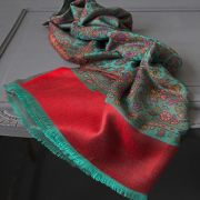 Indian mix cotton scarf red and green