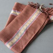 Indian cotton scarf brown