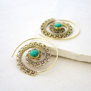 Indian earrings ethnic jewel green stone