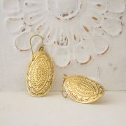 Indian golden metal earrings ethnic jewel