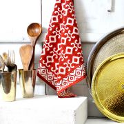 Indian handicraft kitchen towel or napkin maroon