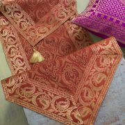 Indian handicraft table runner Sandhya brown