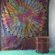 Indian cotton wall hanging Mandala colorful