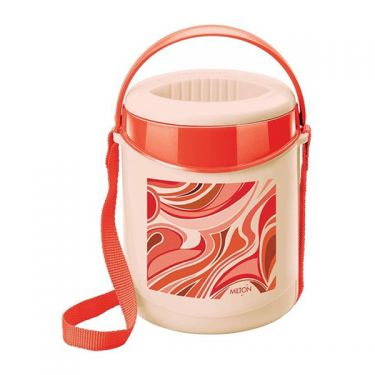 Indian tiffin box 3 sections red color