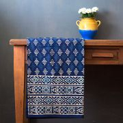 Indian printed tablecloth Dabu blue
