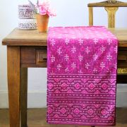 Indian printed tablecloth Dabu magenta