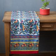 Indian printed table cover Parrots colorful
