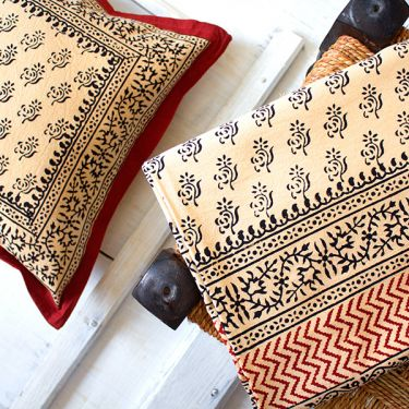 Indian bedsheet with pillow cases Bagru