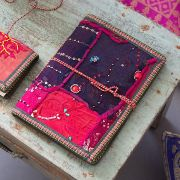 Indian handicraft 100% cotton diary magenta