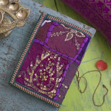 Indian handicraft 100% coton dairy purple