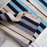 Indian carpet handicraft Dari blue and grey