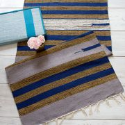 Indian carpet handicraft Dari dark blue and grey