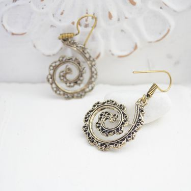 Indian metal earrings ethnic jewelry