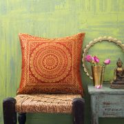 Indian cushion cover Benarasi ocher L40