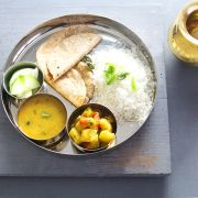 Thali Indian stainless steel plate Ø28