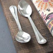 Indian teaspoons x2 stainless steel Juhi