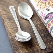 Indian teaspoons x2 stainless steel Candy