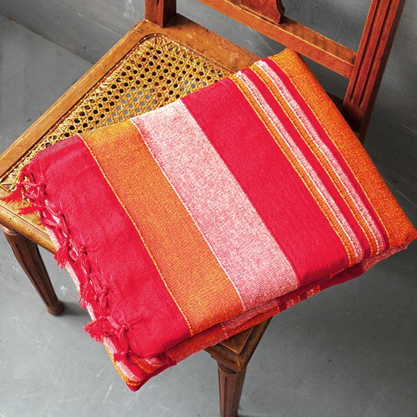 Indian Sofa Or Bed Cover Red And Orange