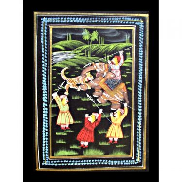 Indian miniature painting Elephants