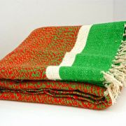 Indian carpet red and green Khaadi Dari