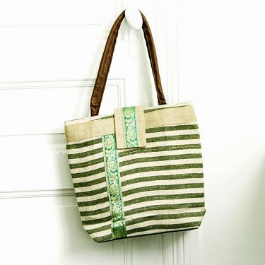 Kolkata natural Indian green bag
