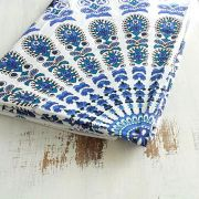 Indian cotton wall hanging Mandala blue and white