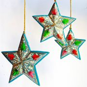 3 Christmas stars ornament