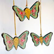 3 Christmas butterflies ornament