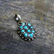 Silver and turquoise Nepal pendant