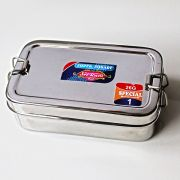 Indian tiffin rectangular L15 with a box for sauce