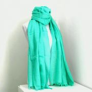 Indian angora mohair scarf green