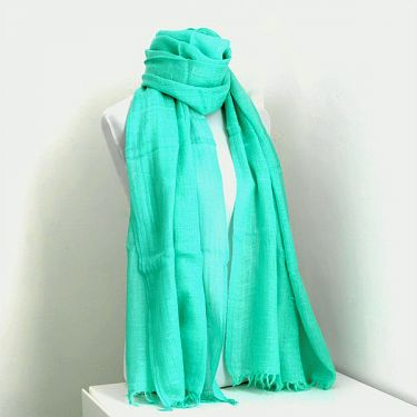 Indian angora mohair shawl or scarf green