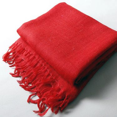 Indian angora mohair scarf red
