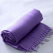 Indian angora mohair scarf purple