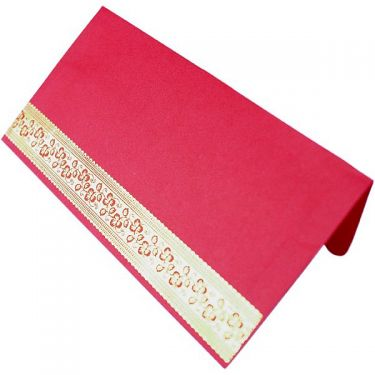 Mail burgundy Indian envelope
