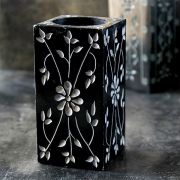 Pen holder Indian marble black square
