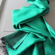 Indian 2 sides mixed silk scarf green and black