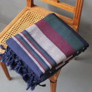 Indian sofa or bed cover blue and grey